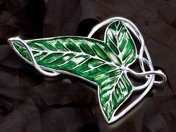 Lord of the Rings Brooch Elven Leaf Brooch (Sterling Silver)