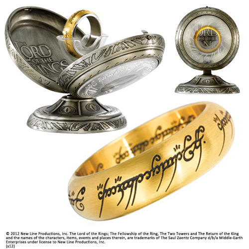Lord of the Rings Stainless Steel Ring The One Ring (gold plated) Size 10