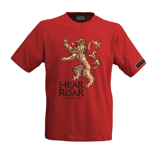 Game of Thrones T-Shirt House Lannister Size XL