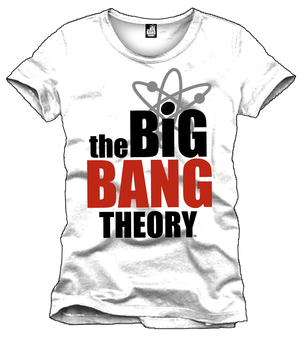 Big Bang Theory T-Shirt Logo white Size L