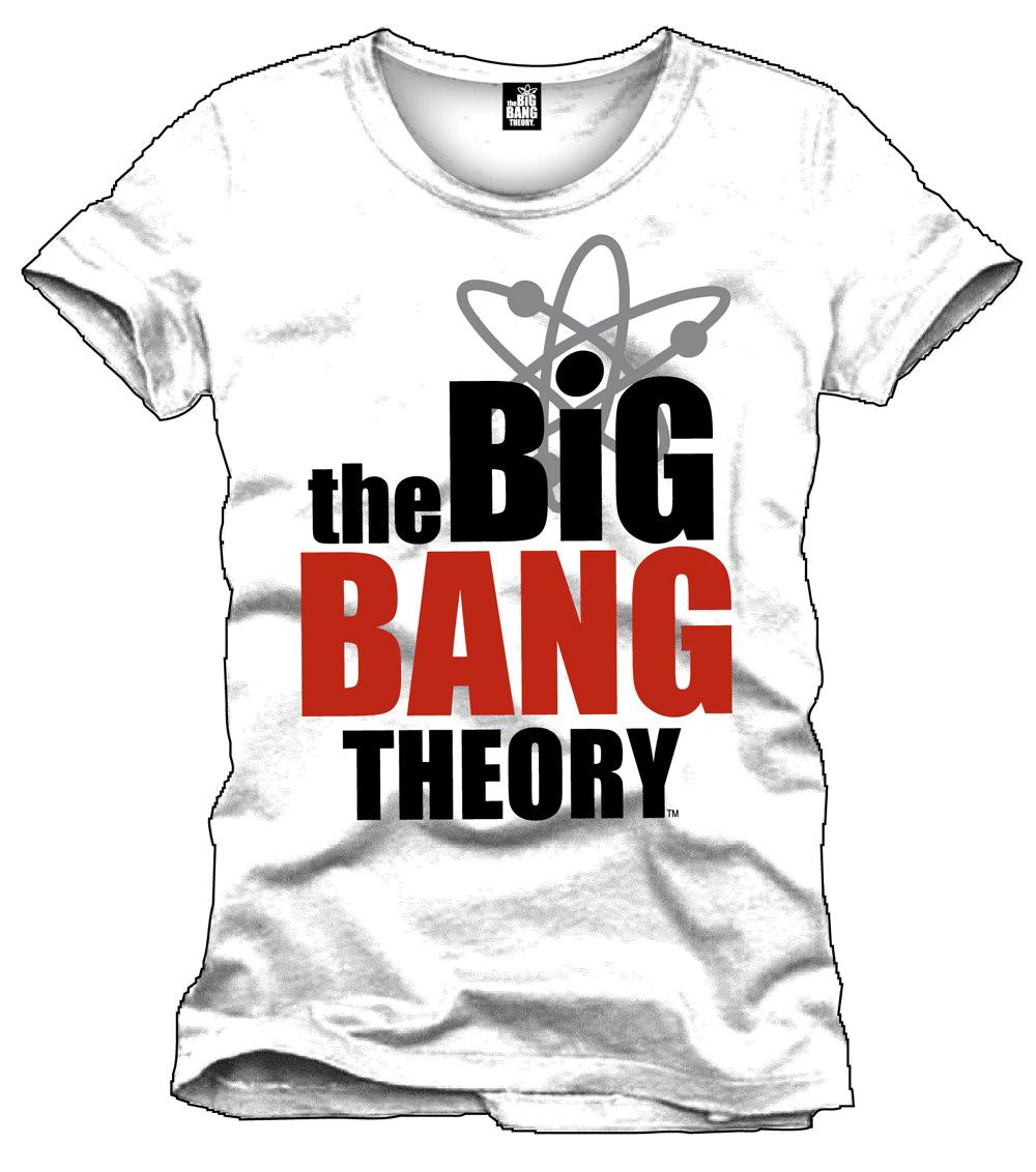 Big Bang Theory T-Shirt Logo white Size L