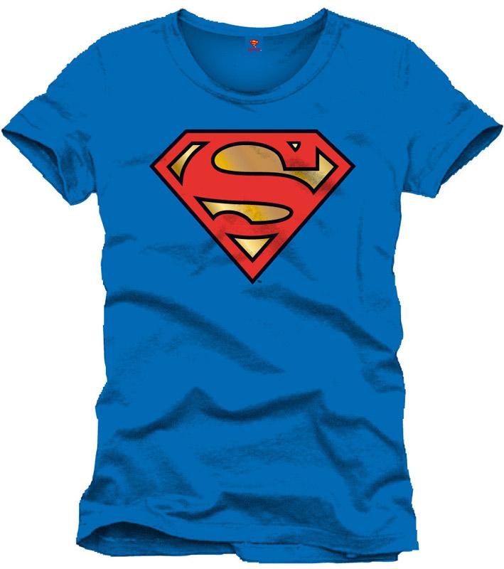 T-Shirt Golden Logo Size L Blue