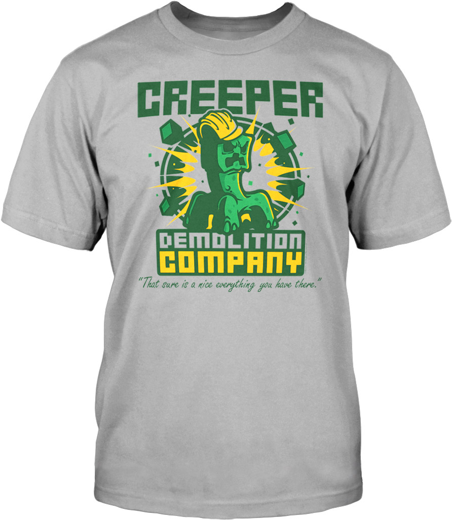 Minecraft T-Shirt Demolition Company Size XL