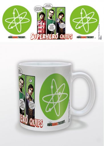 The Big Bang Theory Mug Superhero Quips