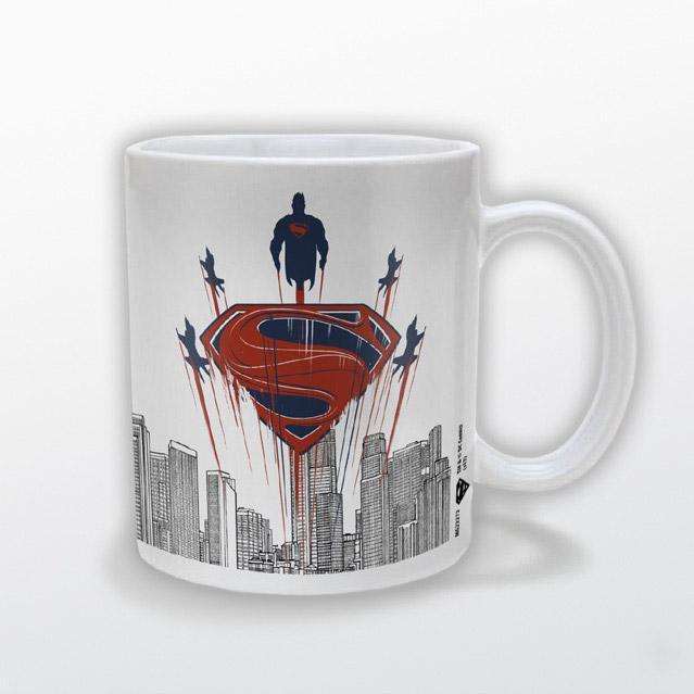 Man Of Steel Mug Flying