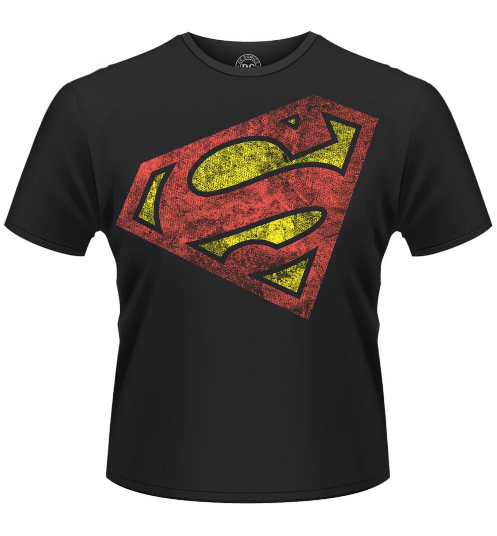 Superman T-Shirt Angled Logo Size L