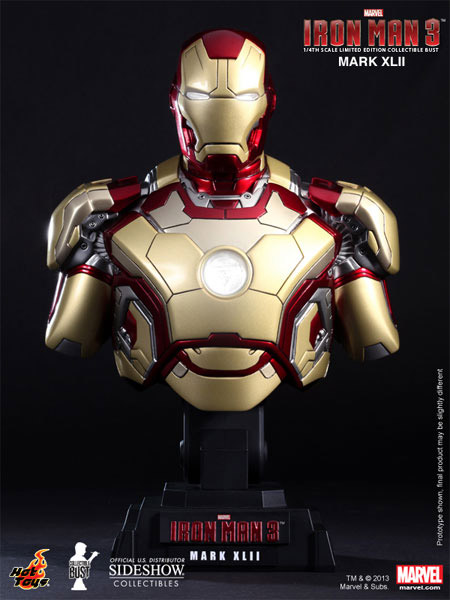 Iron Man 3 Bust 1/4 Iron Man Mark XLII 23 cm