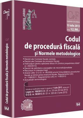 CODUL DE PROCEDURA FISCALA SI NORMELE MERODOLOGICE