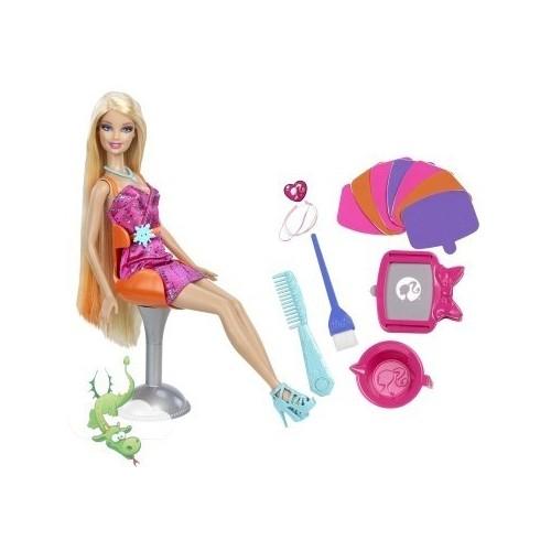 Papusa Barbie+Accesorii Coafat