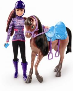 Papusa+calutut Barbie in a pony tale