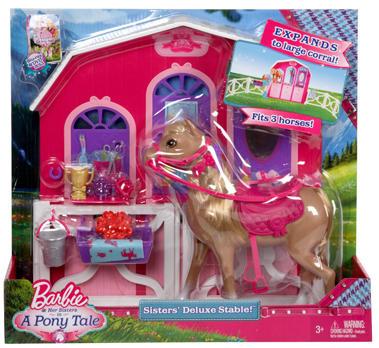 Set Barbie surorile si grajdul