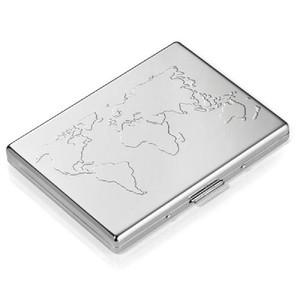 Suport carti credit,aluminiu,World Map