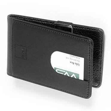 Suport carti credit,piele,negru