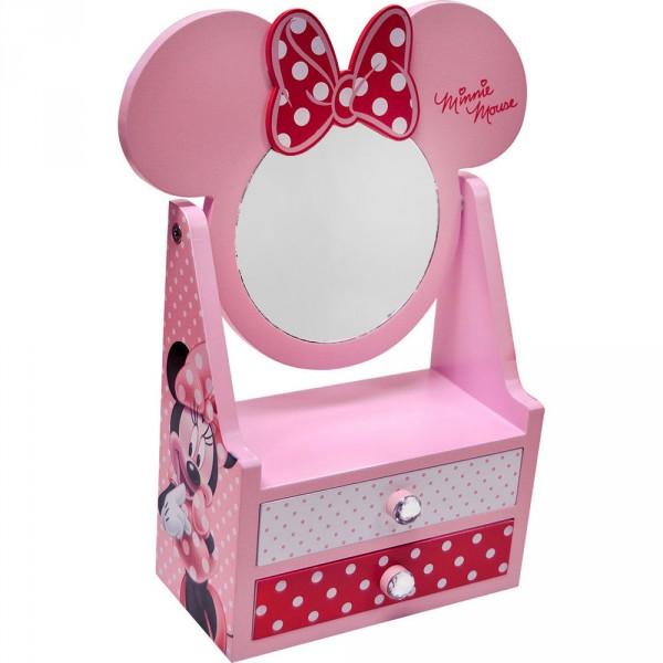 Mini comoda,oglinda+2sertare,roz,Minnie
