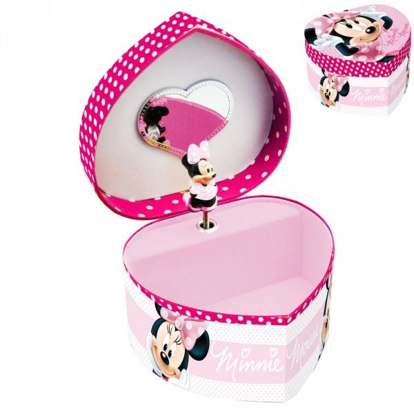 Caseta muzicala,forma inima,roz,Minnie