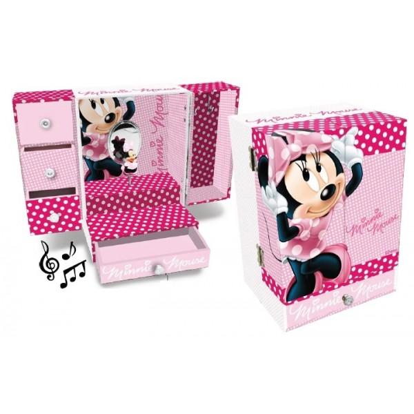 Caseta muzicala,4sertare,roz,Minnie
