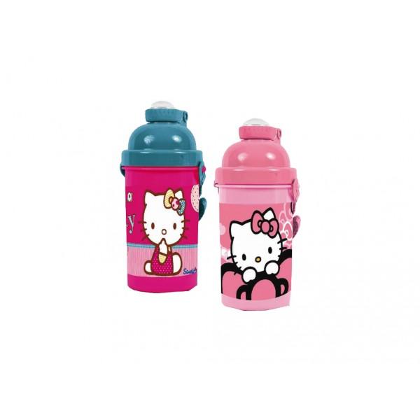 Bidonas apa,plastic,500ml,Hello Kitty