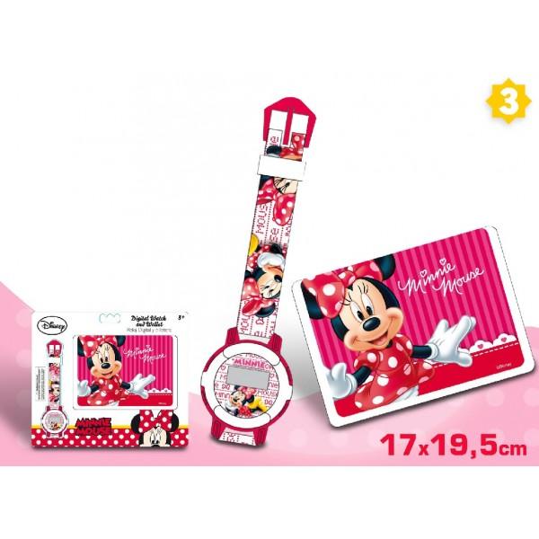 Set cadou ceas mana+portofel,Minnie