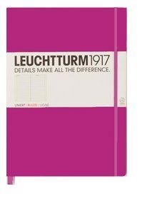 Caiet Leuchtturm A6,185f,dict,roz