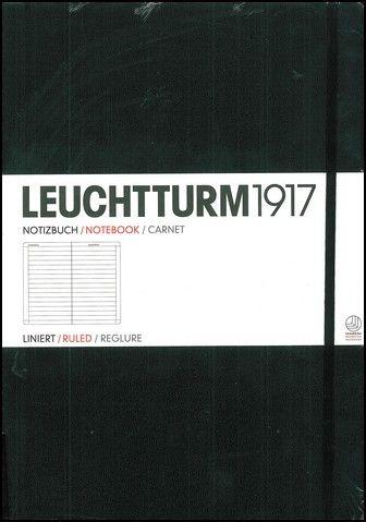 Caiet Leuchtturm A5,121f,mate,negru