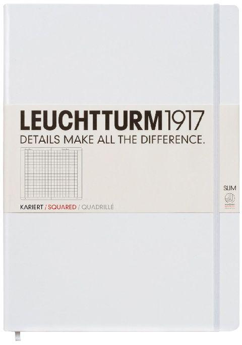 Caiet Leuchtturm A4,121f,mate,alb