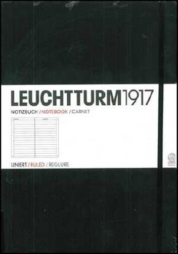 Caiet Leuchtturm A4,233f,dict,negru