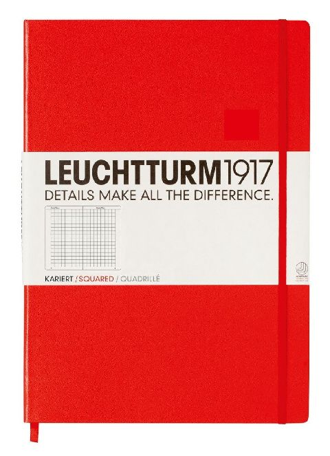 Caiet Leuchtturm A4,233f,mate,rosu