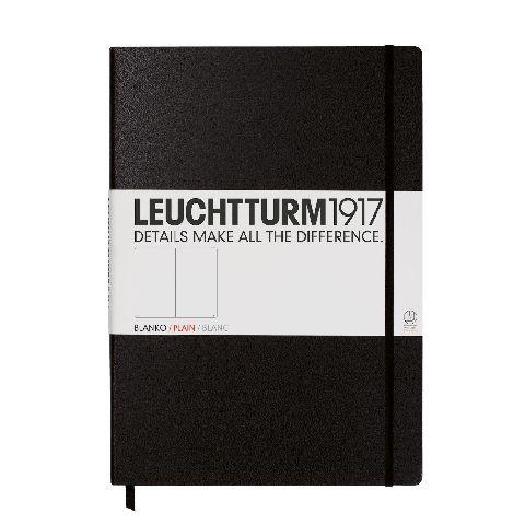 Caiet Leuchtturm A4,233f,velin,negru