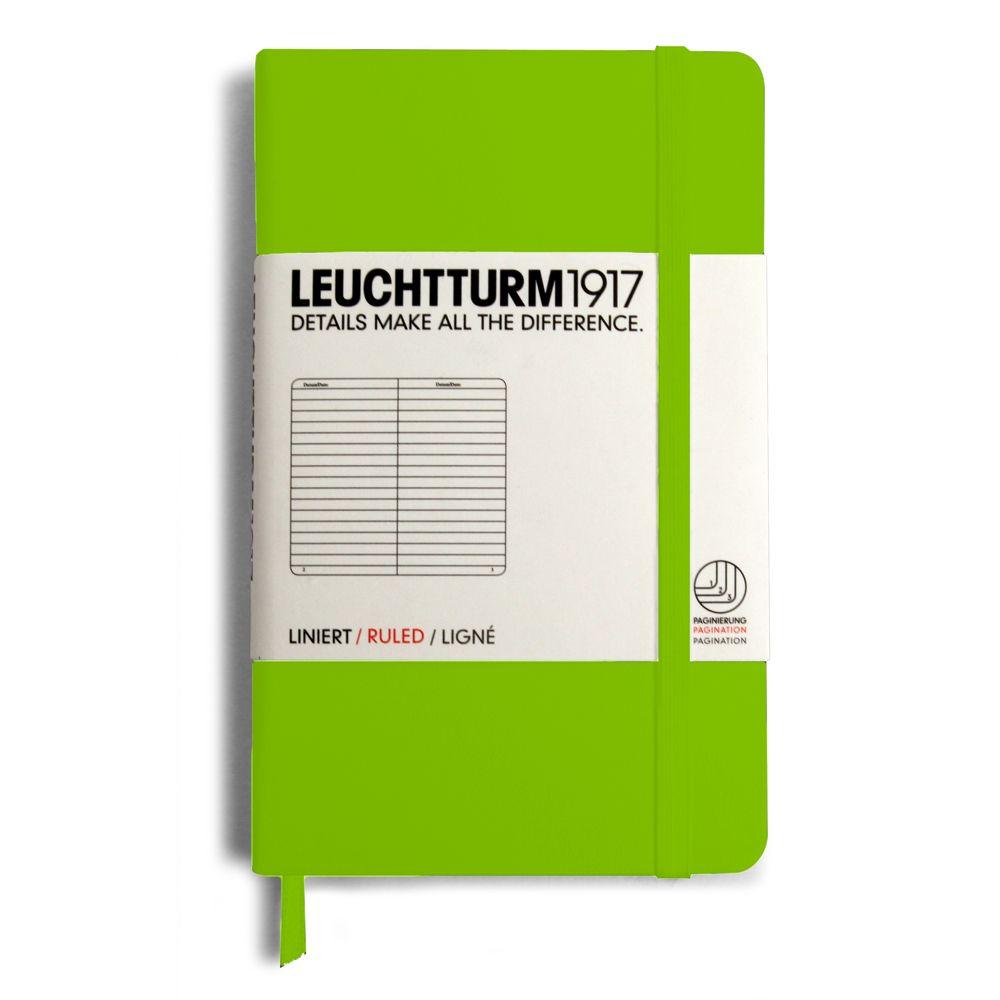 Caiet Leuchtturm A6,185f,dict,verde lime