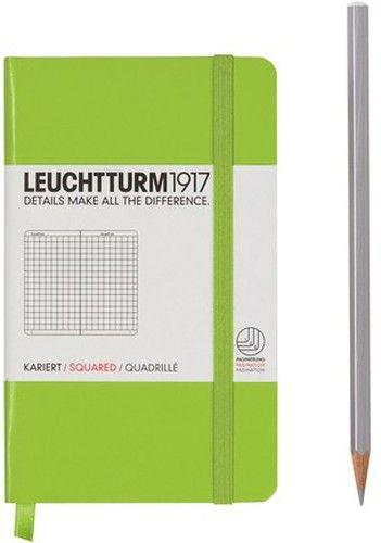 Caiet Leuchtturm A6,185f,mate,verde lime