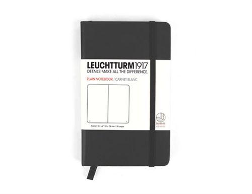 Caiet Leuchtturm A6,185f,velin,negru