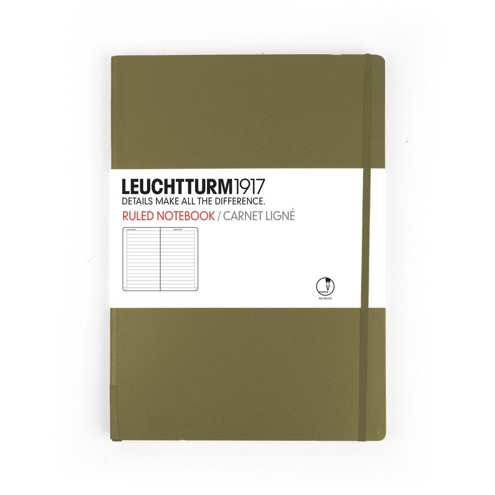 Caiet Leuchtturm A5,249f,dict,maro