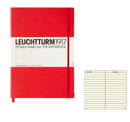 Caiet Leuchtturm A4,233f,dict,rosu