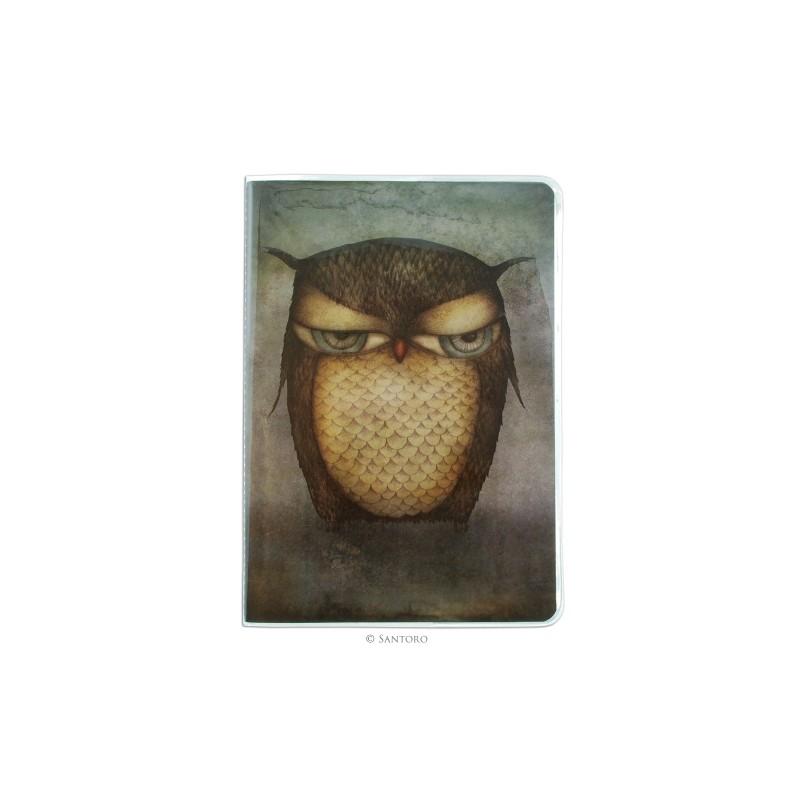 Caiet A5 cusut Grumpy Owl
