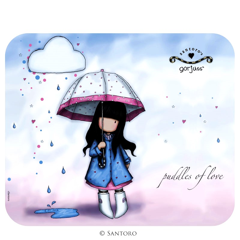 Mouse pad,Puddles of Love