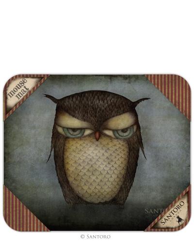 Mouse pad,Grumpy Owl