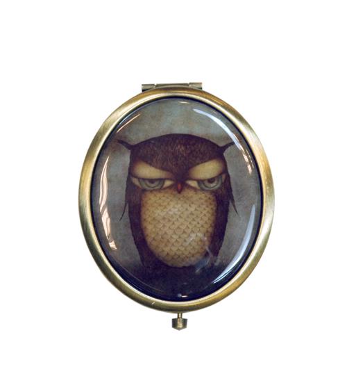 Oglida ovala de buzunar,Grumpy Owl