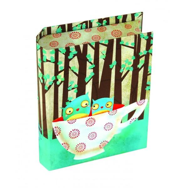 Cutie carte cu felicitari,Cup of Owls