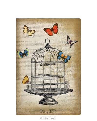 Agenda 2014,de buzunar,Butterflies&Birdcage