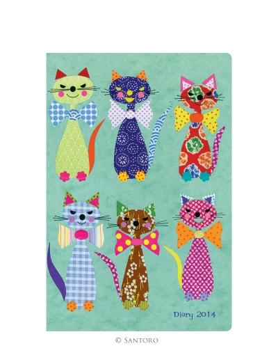 Agenda 2014,de buzunar,Cats with Bowties