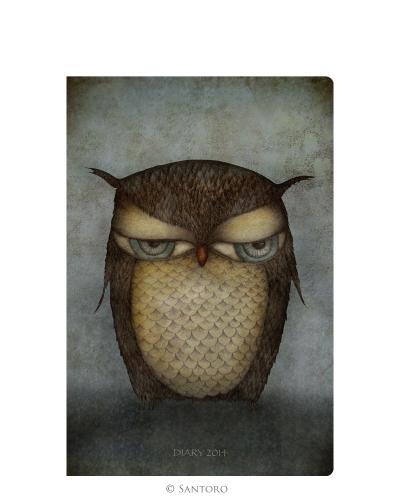 Agenda 2014,de buzunar,Grumpy Owl