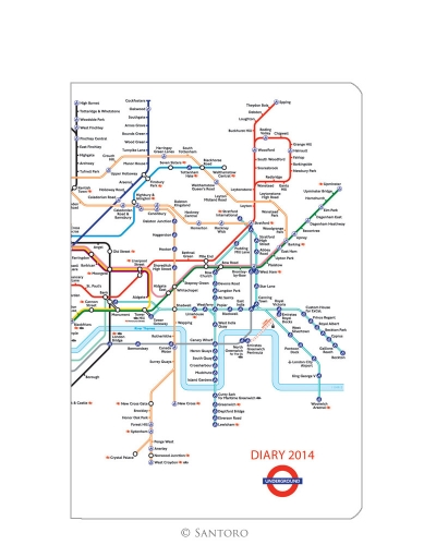 Agenda 2014,de buzunar,LondonUnderground