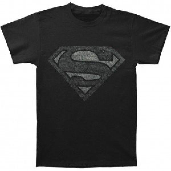 TRICOU SUPERMAN VINTAGE SILVER L
