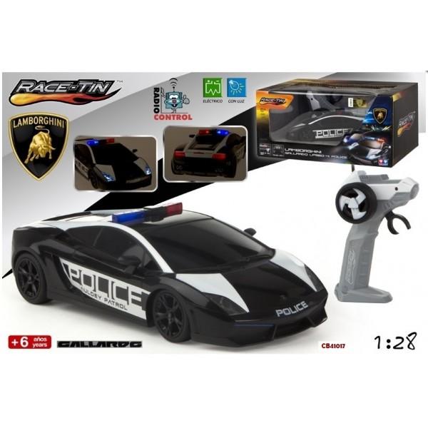 Masina Lamborghini Gallardo Police RC 1:28