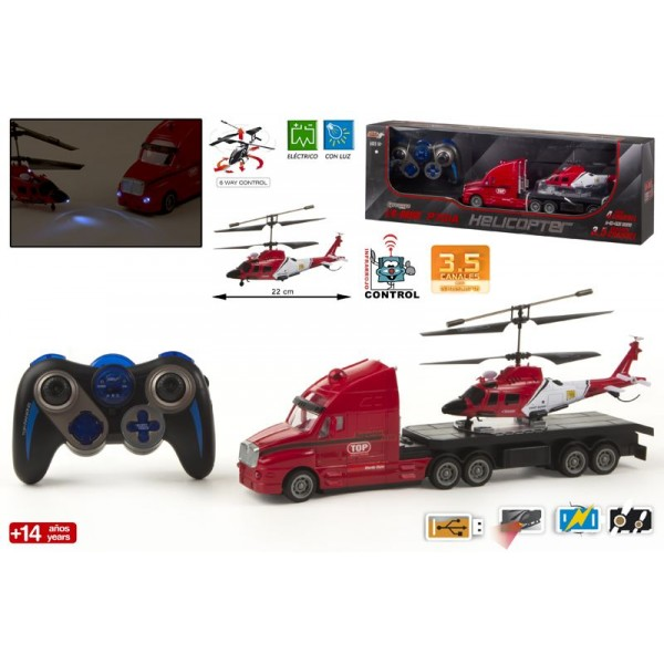 Camion cu elicopter RC