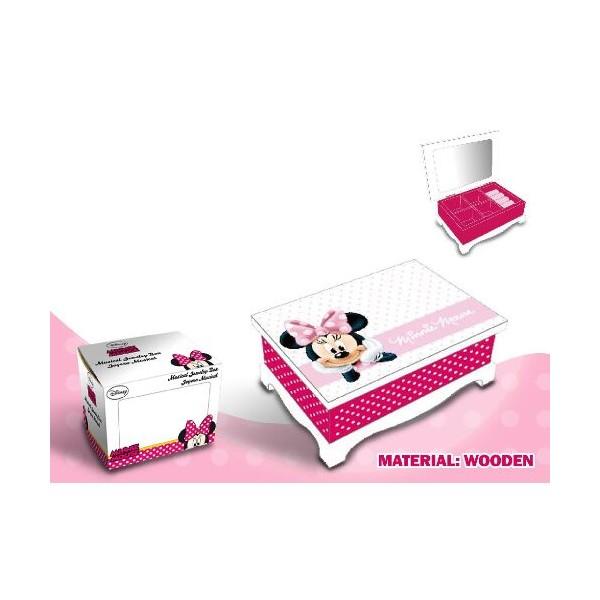 Caseta bijuterii,lemn,roz,Minnie