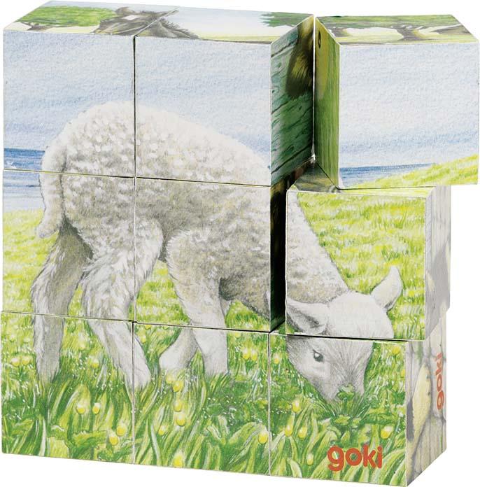 Cub puzzle animale de la ferma