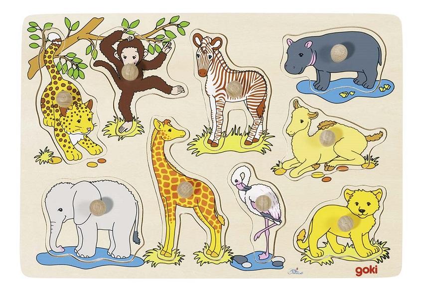 Puzzle lemn animale din africa