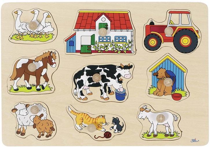 Puzzle lemn la ferma