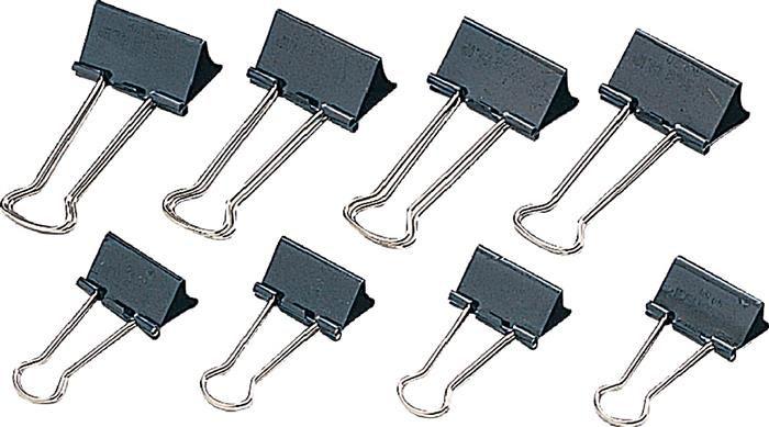 Clipsuri metalice negre,20mm,12buc/cutie
